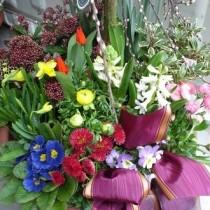 Grabpflege Friedhof, Grabblumen Handel, Urnengrab Blumenstrauß